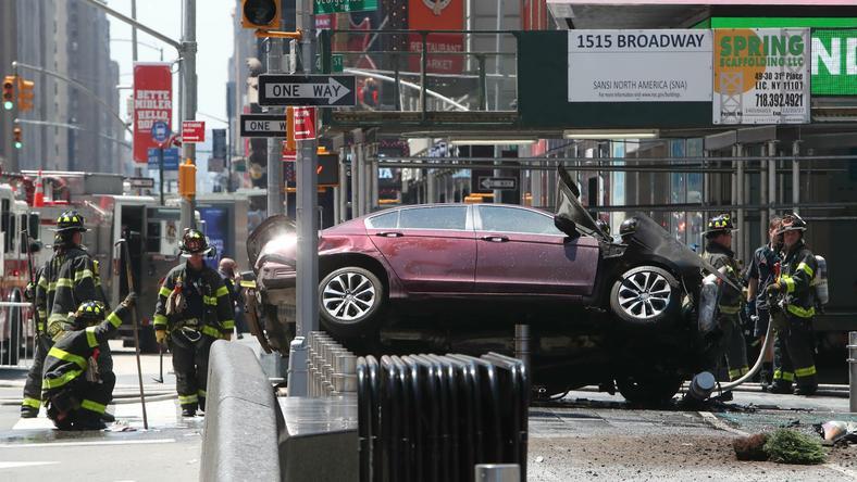 Rozpędzony samochód wjechał w pieszych w Nowym Jorku