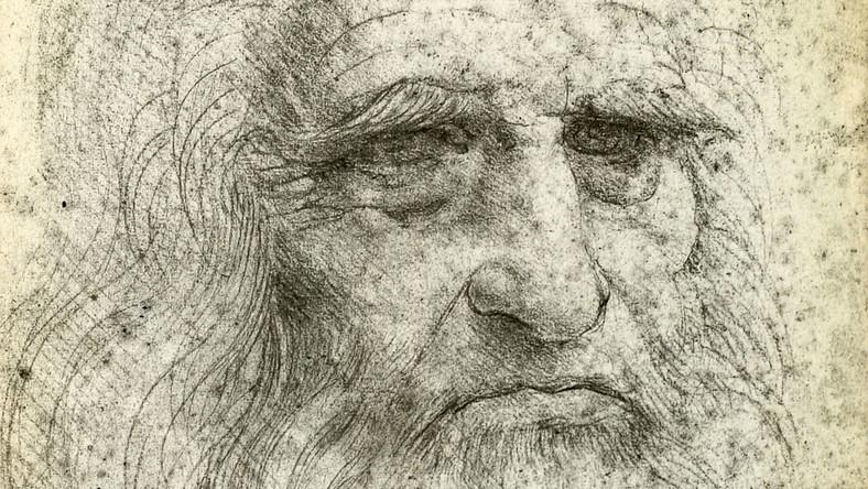 Leonardo da Vinci. Autoportret z 1512 roku