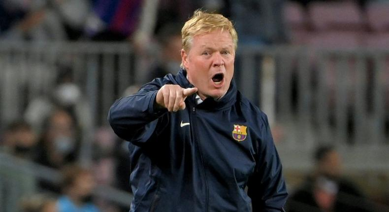 Ronald Koeman played for Barcelona between 1989-1995 Creator: LLUIS GENE