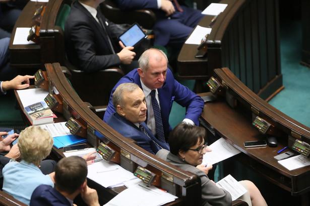 Posłowie Platformy Obywatelskiej Ewa Kopacz, Grzegorz Schetyna oraz Sławomir Neumann