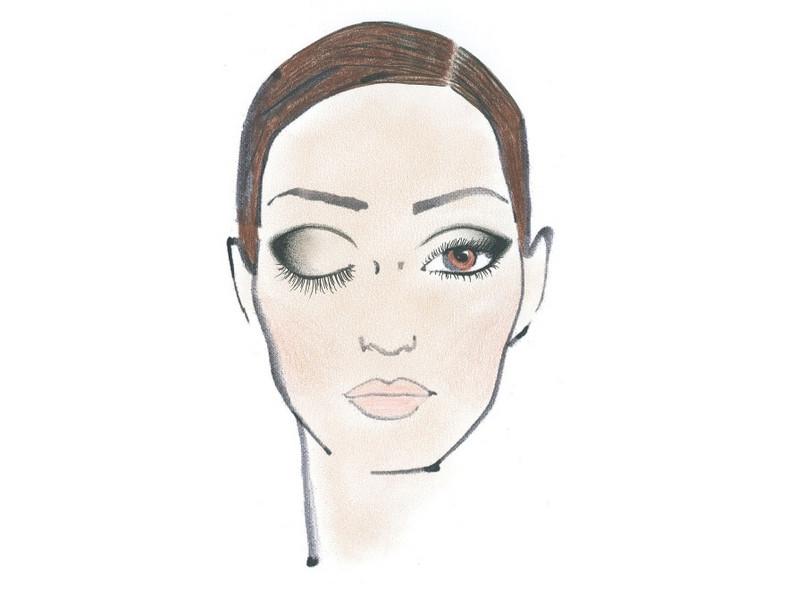 """""""Linearna czerń"""" - druga propozycja makijażu Sephory na jesień 2011."""