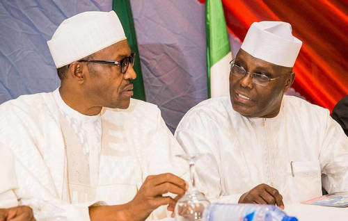Atiku (right) and Buhari (left) were the main contenders in the 2019 presidential election that was contested by a record total of 73 candidates