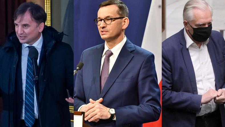 Zbigniew Ziobro, Mateusz Morawiecki, Jarosław Gowin