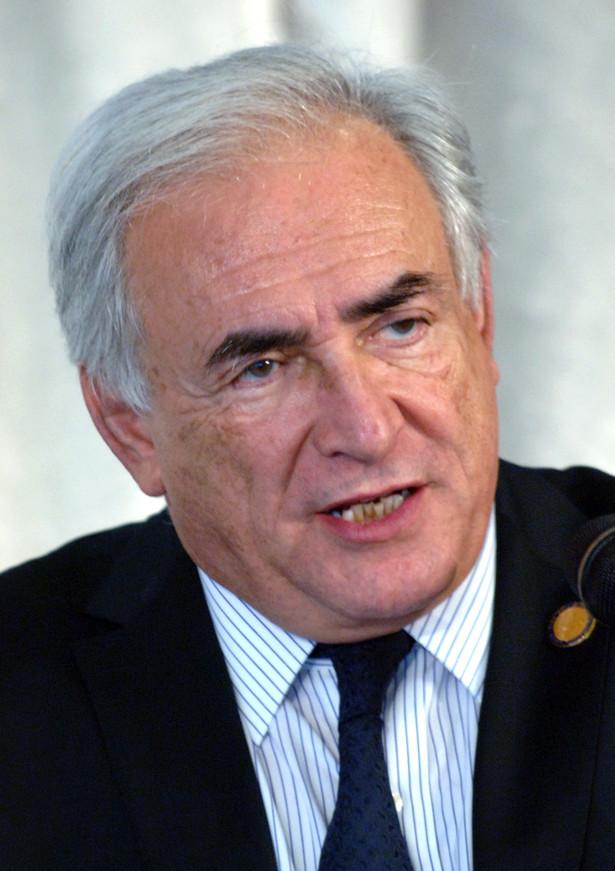 Dyrektor generalny Międzynarodowego Funduszu Walutowego (MFW) Dominique Strauss-Kahn.