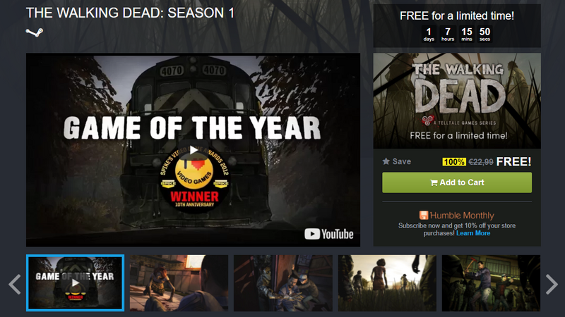 The Walking Dead - pierwszy sezon za darmo w Humble Bundle