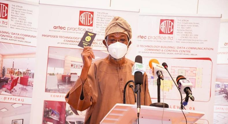 The Minister of Interior, Rauf Aregbesola, launched the passport on March 9, 2021 [Twitter/@raufaregbesola]