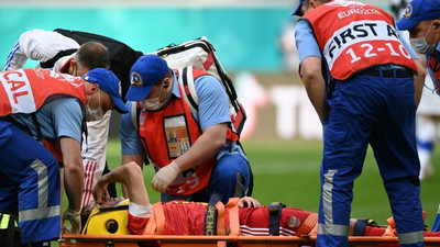 Russia's Fernandes avoids spinal injury after Euro 2020 fall