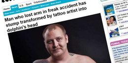 Kaleka zrobił sobie tatuaż na kikucie