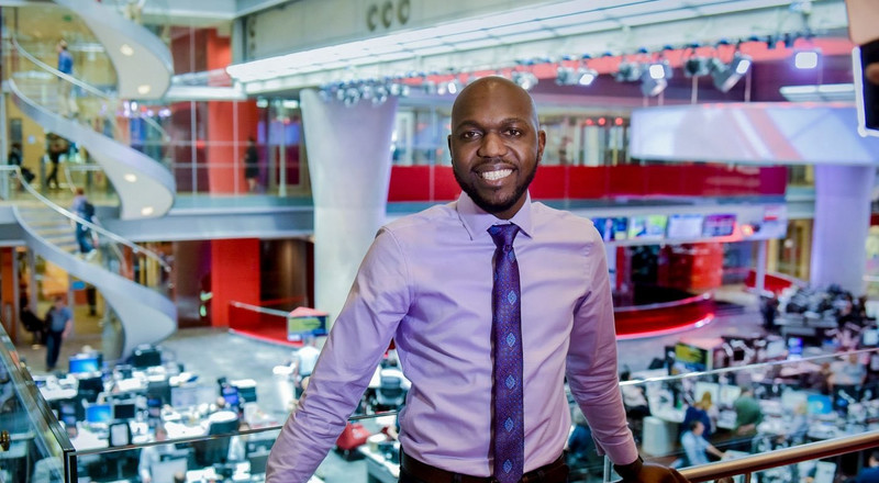 Larry Madowo's reaction as he gets picked to deliver lecture at Canada's Carleton University