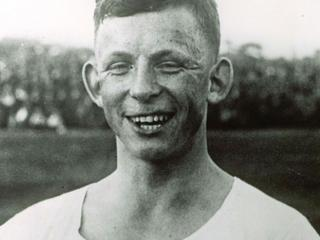 Der deutsche Fuball-Nationalspieler Ernst Willimowski