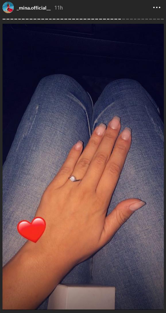 Mina Vrbaški pokazala prsten