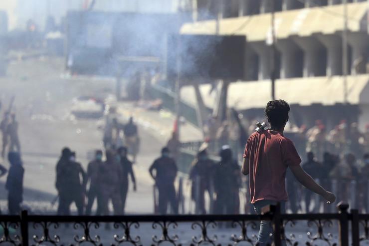 Irak, protesti