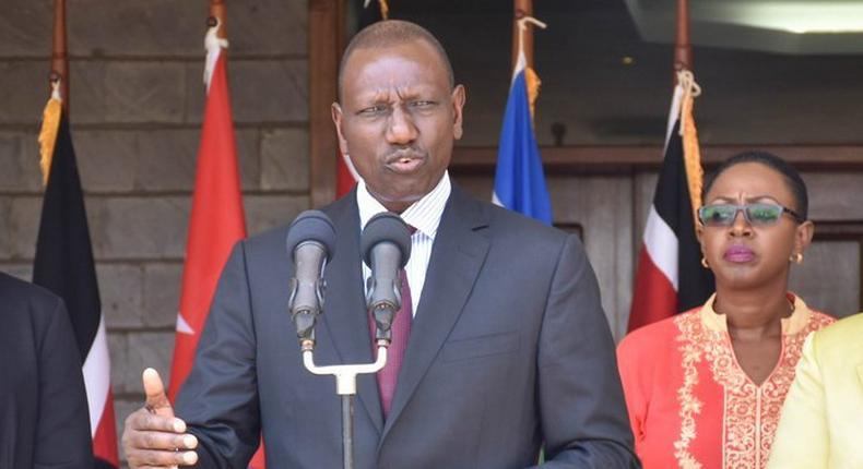 Deputy President William Ruto gives an address after meeting with Ines Maria Chapman, The Vice President of the Cuban Council of State and of Ministers (Twitter)