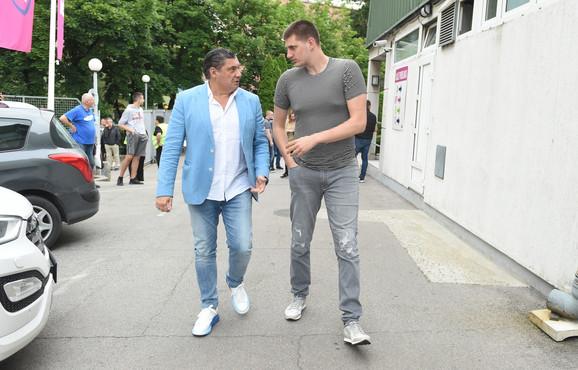 Nikola Jokić je sa Miškom Ražnatovićem došao na meč Mega Bemaks - Zvezda