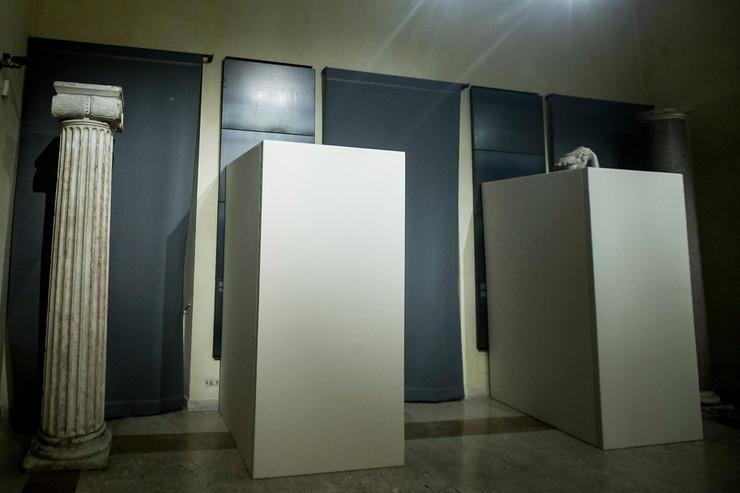 rim muzej pokrivene gole statue, hasan rohani, papa franja 03_TANJUG_foto AP