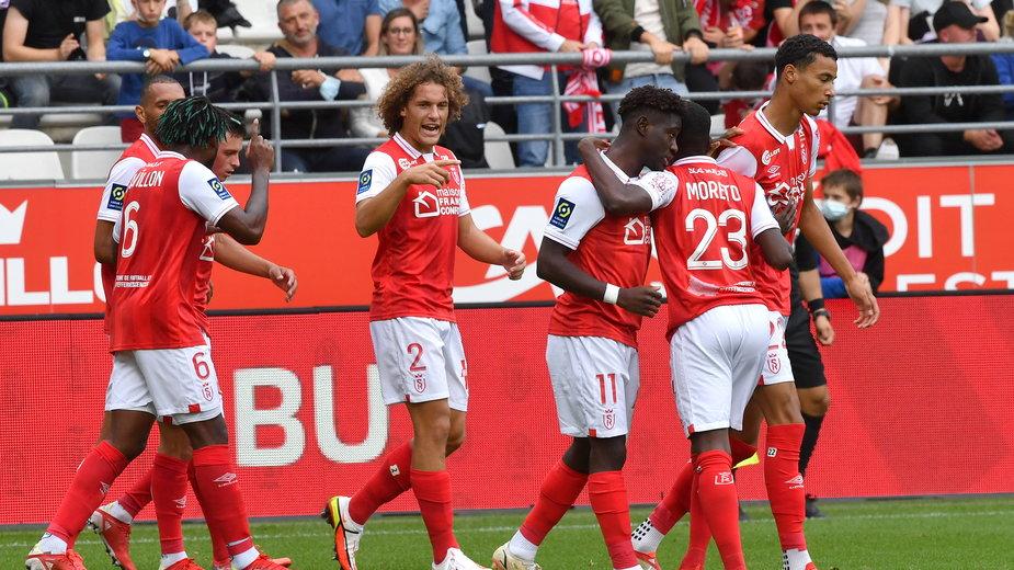 Radość piłkarzy Stade Reims