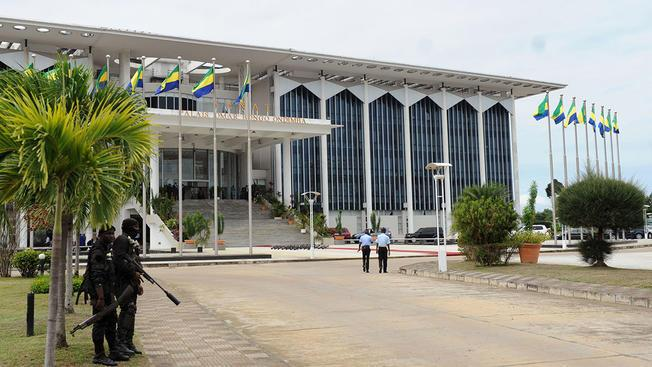 Gabon parliament building in Libreville.