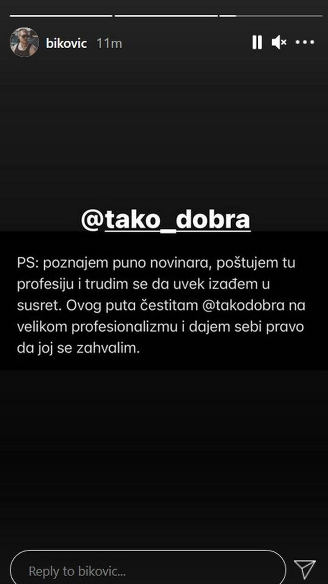 Miloš Biković - objava