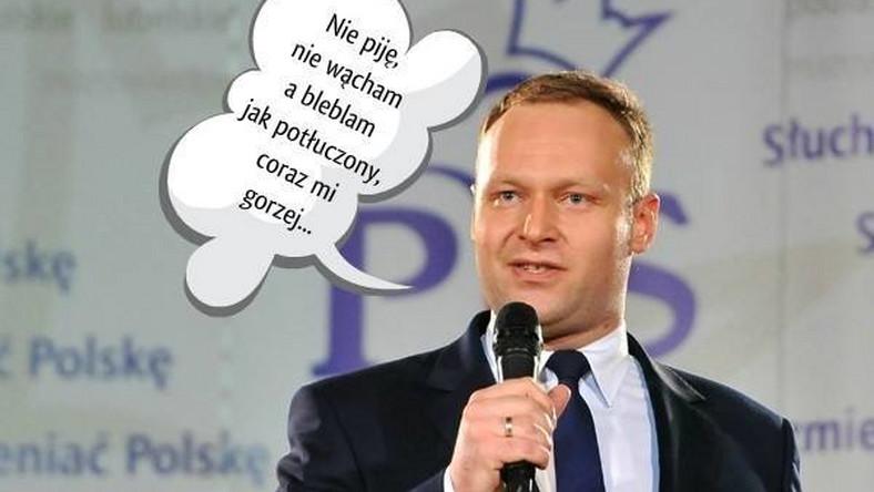 Marcin Mastalerek w roli rzecznika PiS. Radzi sobie, czy blebla jak potłuczony?