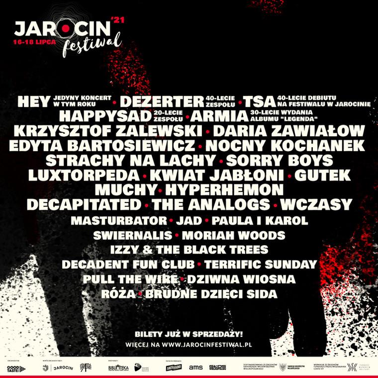 Jarocin Festiwal 2021. Line-up