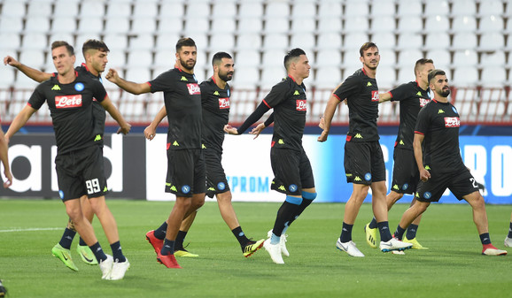 Napolitanci odradili trening na stadionu