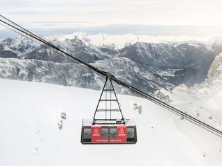 Get your ski trip off to a flying start! Cable car 9,000ft up in the French Alps turned into a luxur