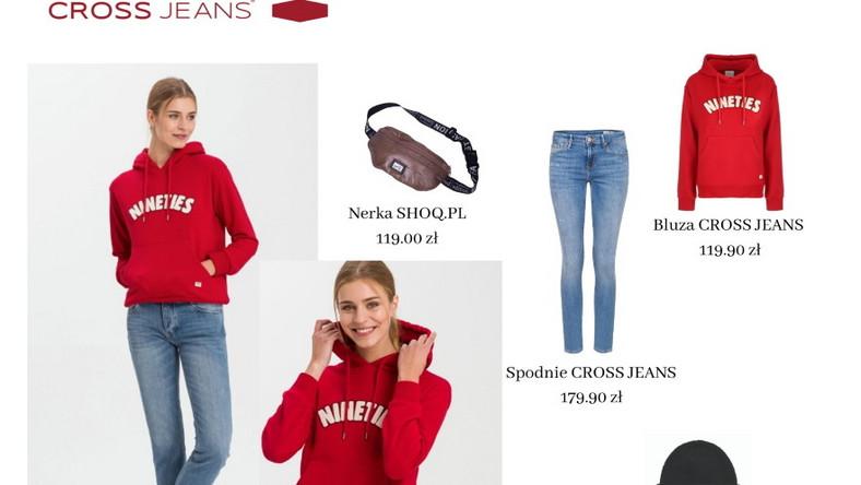 Wybór basicowej bluzy z kapturem to idealne rozwiązanie na popołudniowy spacer. Załóż do niej spodnie jeansowe, nerkę , a na głowę obowiązkowo ciepłą, wełnianą czapkę, która ochroni Cię przed mrozem.