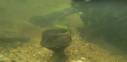 Sensacyjne odkrycie na dnie rzeki! Nurkowie z Piły oniemieli