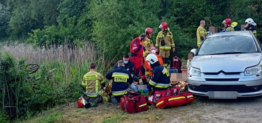 Poważny wypadek bryczki pod Lesznem. Wśród rannych dzieci