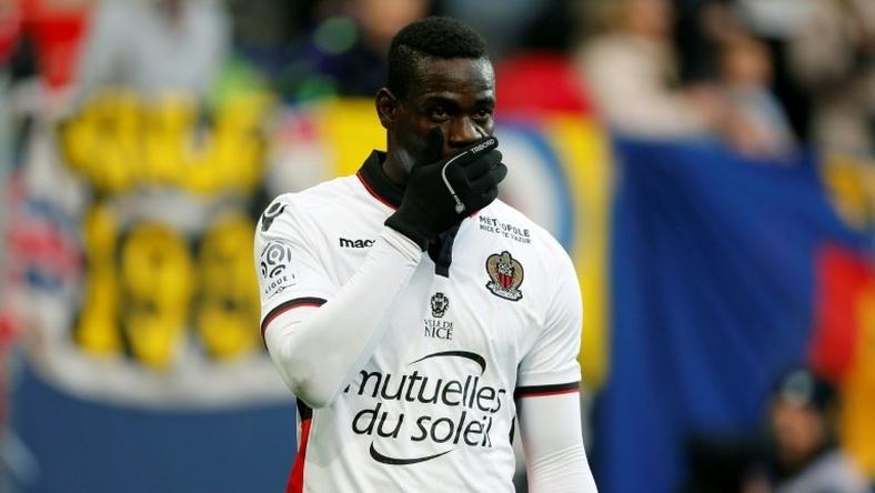 Nice's forward Mario Balotelli, pictured on November 6, 2016, has scored seven goals in nine games this season