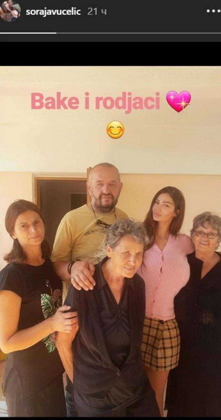 Soraja Vučelić sa porodicom