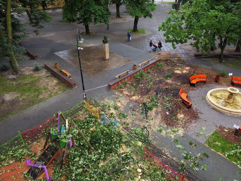 Niszczycielska burza w Aleksandrowie Łódzkim