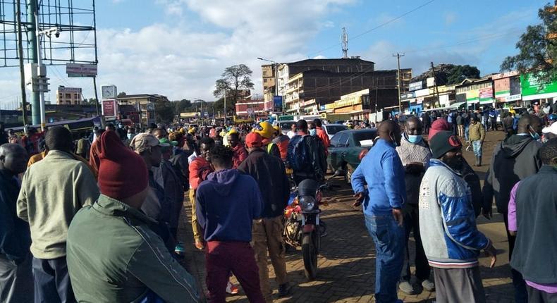 Commuters stranded as Nairobi-Ngong matatus strike