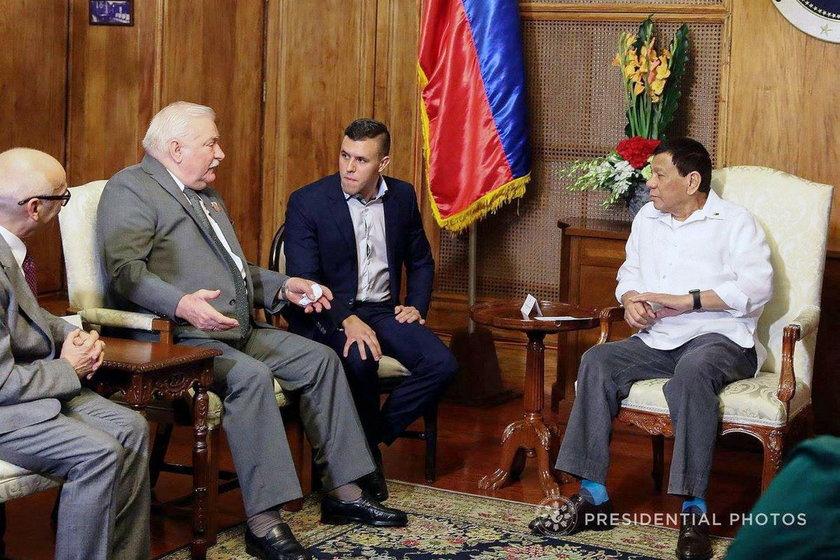 Lech Wałęsa i Rodrigo Duterte
