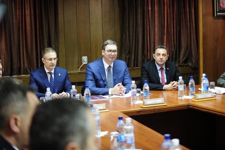 Vojna parada, Niš, Aleksandar Vučić, Sastanak
