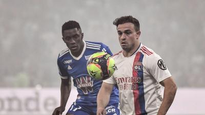 Shaqiri, Boateng make Lyon debuts in Strasbourg win