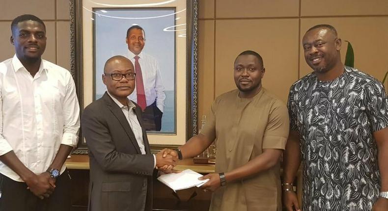 John Ogu, Olakunle Alake, Dayo Enebi and Chidi Ngoka (Twitter/NFF)