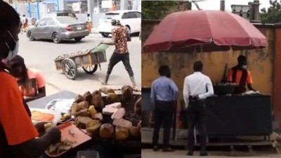 24-year-old roasted potato seller wants his children to continue the business when he dies
