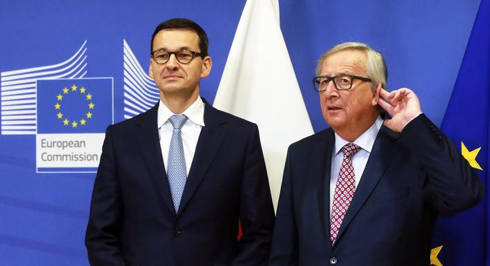 Polish Prime Minister Mateusz Morawiecki in Brussels