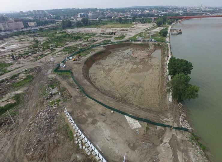 Iskopina za temelje Kule Beograd
