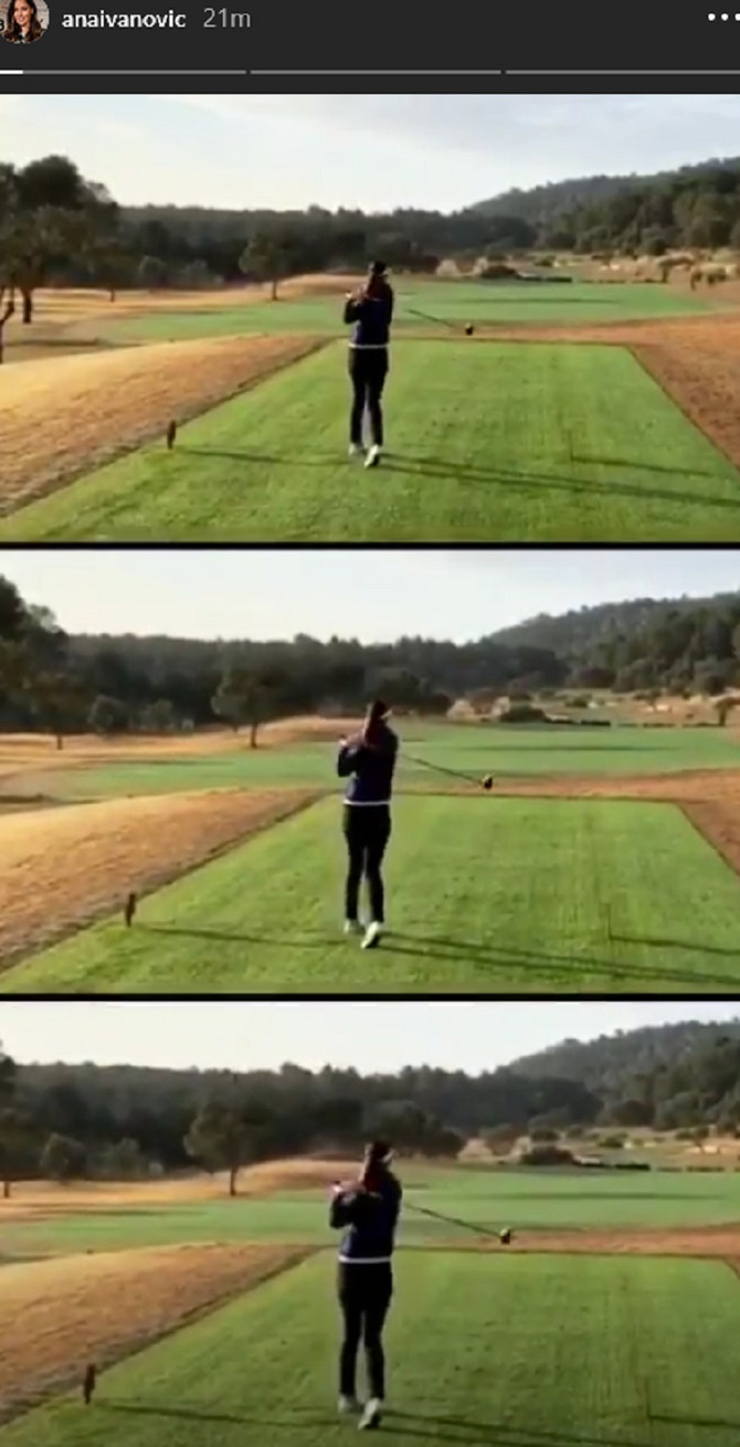 Ana na golferskom terenu