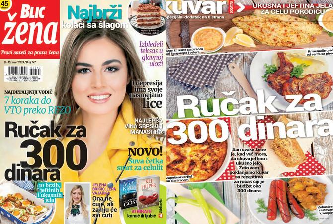 "Nova ""Blic žena"" na kioske stiže u subotu 9. marta"