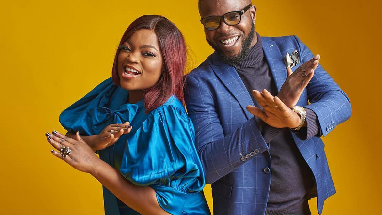 Funke Akindele has sent a stein warming to all her friends not to get too friendly towards her husband and call him except on his birthday [Instagram/FunkeJenifaAkindele]