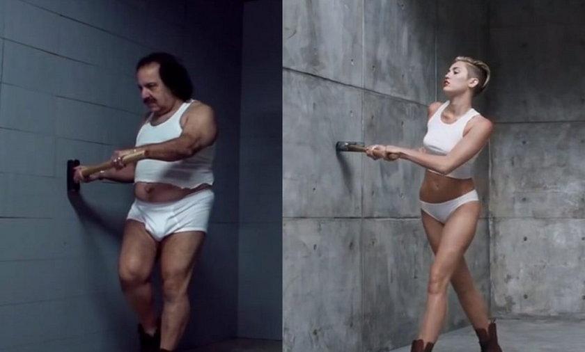 Gruby aktor PORNO parodiuje Miley Cyrus oraz z tematem : Ohyda! Gruby aktor PORNO parodiuje gwiazdę