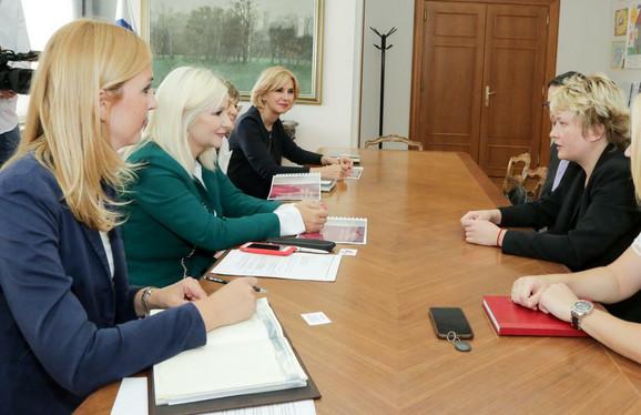 Marina Maljković na sastanku sa Zoranom Mihajlović