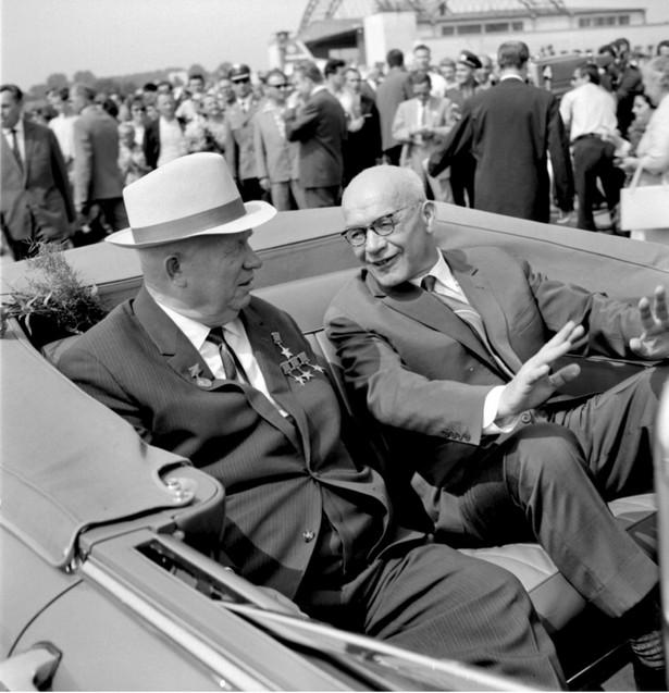 Władysław Gomułka i Nikita Chruszczow, Warszawa 1964 r.