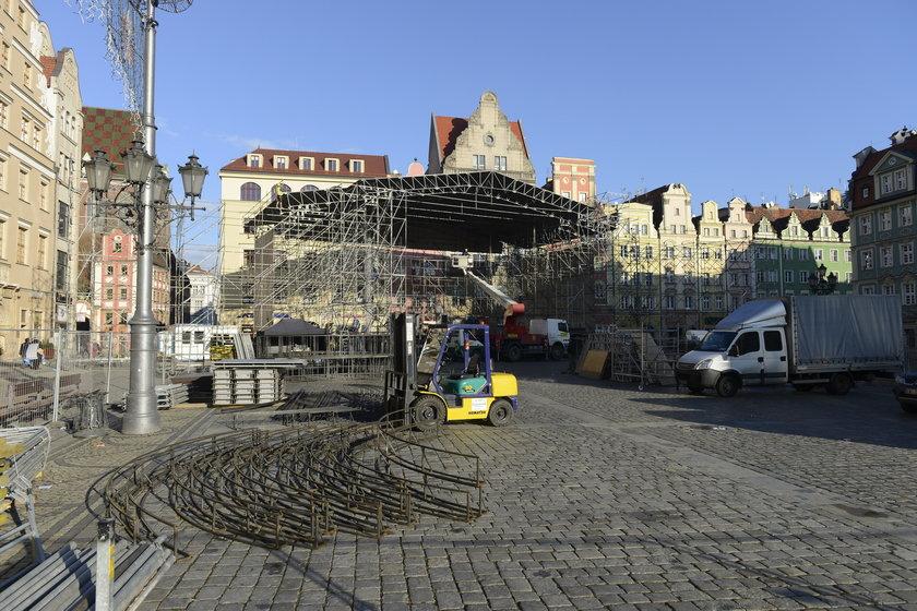 We Wrocławiu powstaje już scena na Sylwestra