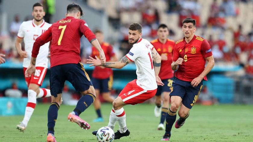 Z reprezentacją Hiszpanii w sobotę 19.06 udało się zremisować 1-1.