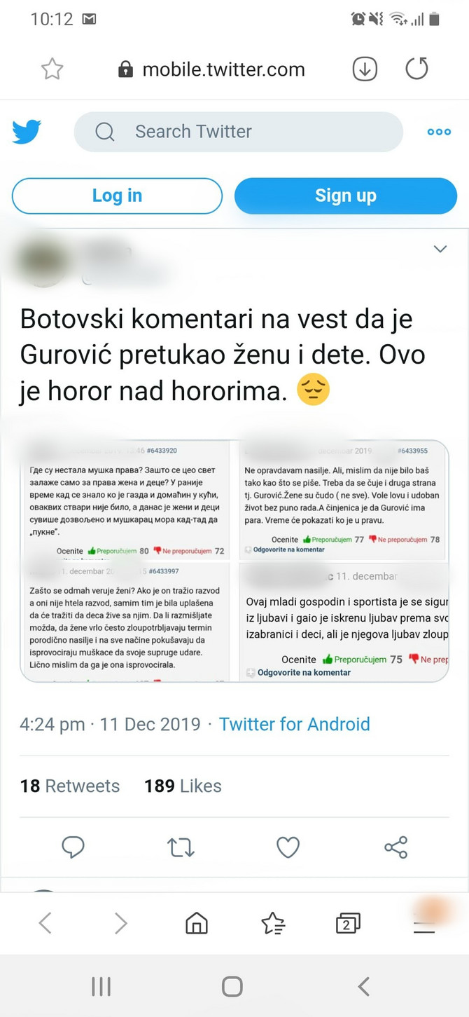 Botovski komentari na vesti o Guroviću