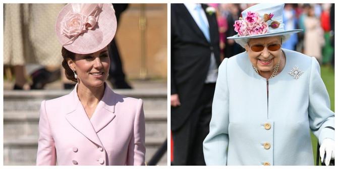 Kejt Midlton i kraljica Elizabeta II